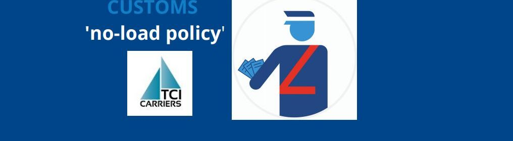 Customs no load policy website TCI